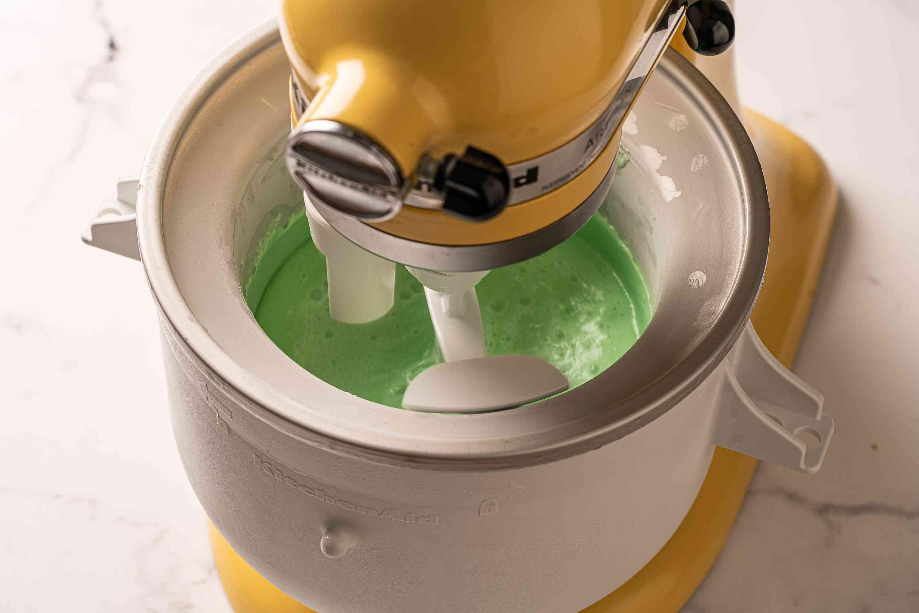 Churning Mint Ice Cream