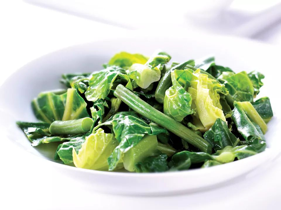 Spring Greens and Beans With Lemon Ginger Butter