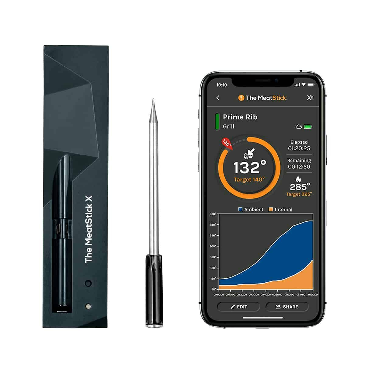 The MeatStick X Wireless Grill Thermometer