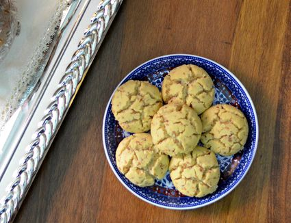 Moroccan shortbread cookies on plate