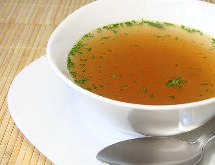 Clear bouillon soup