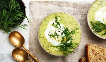 Cool vegan cucumber soup