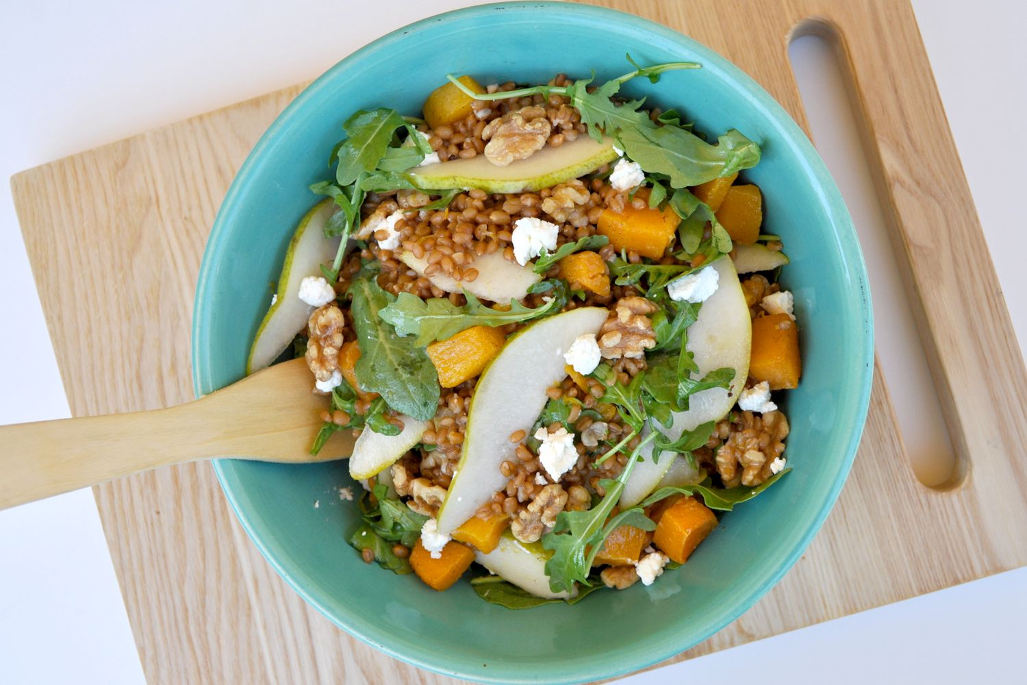 Wheat Berry Salad With Pear and Goat Cheese