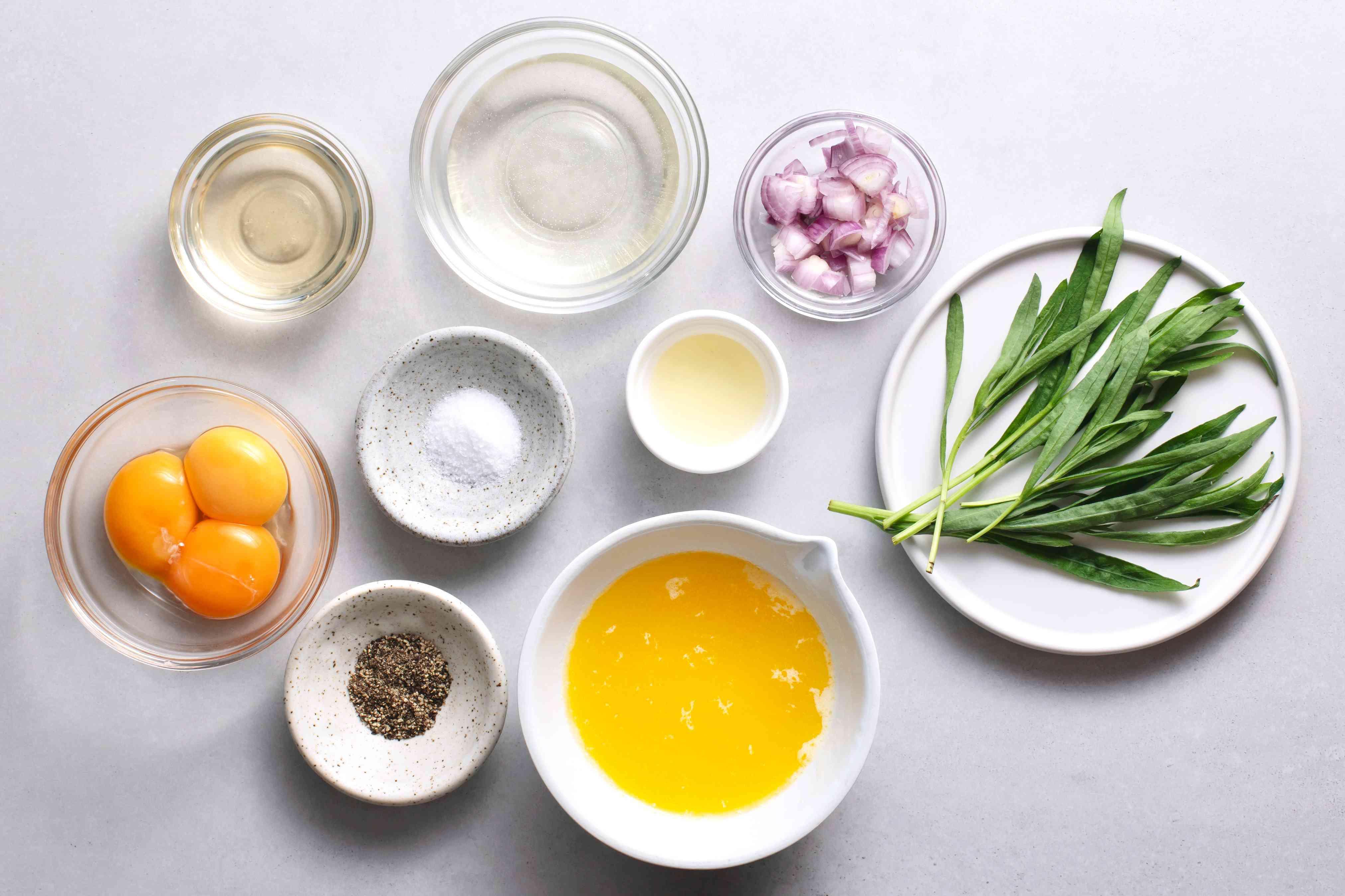 Bearnaise Sauce ingredients