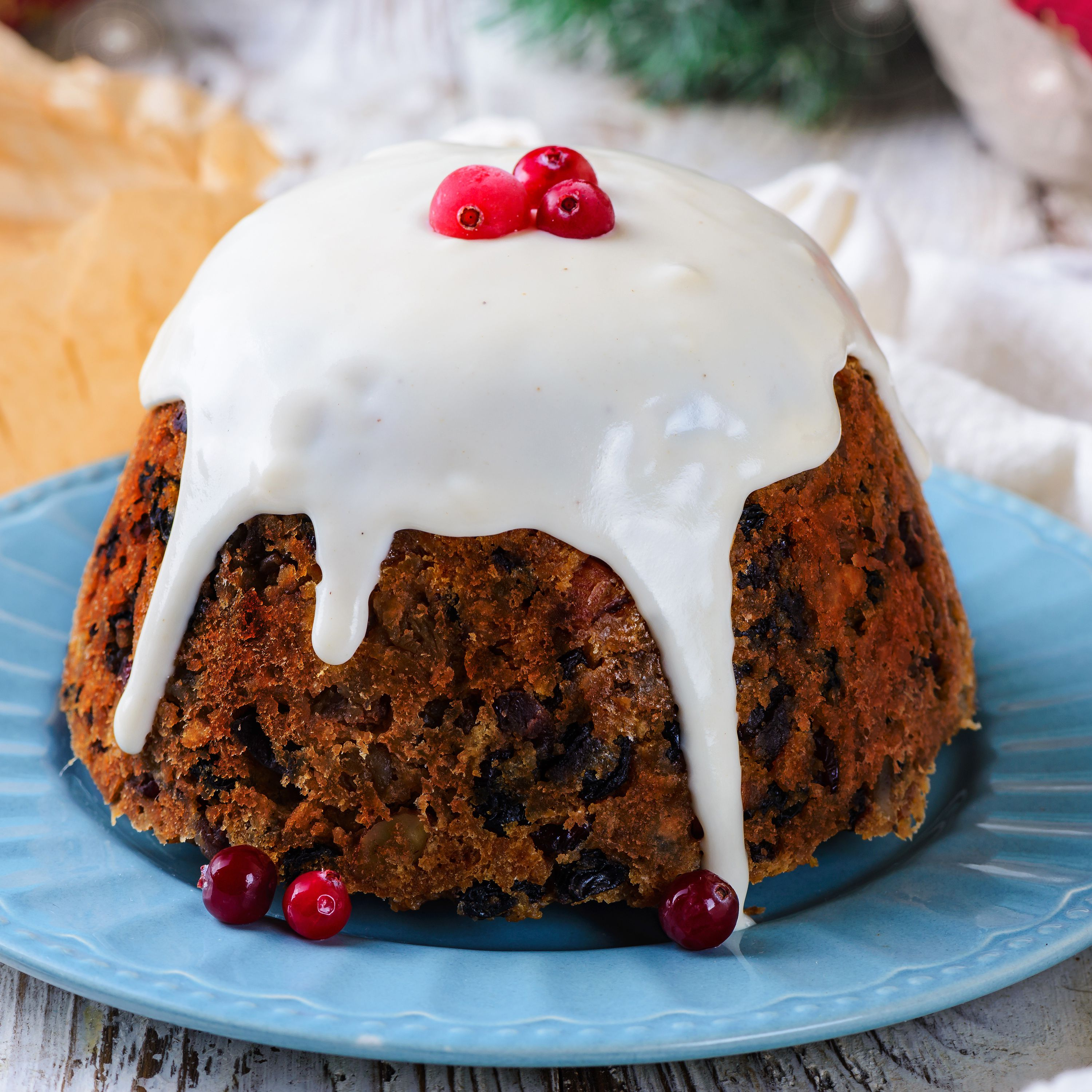 Christmas Pudding Recipe.Cranberry Almond And Orange Christmas Pudding