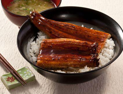 Unagi eel with rice
