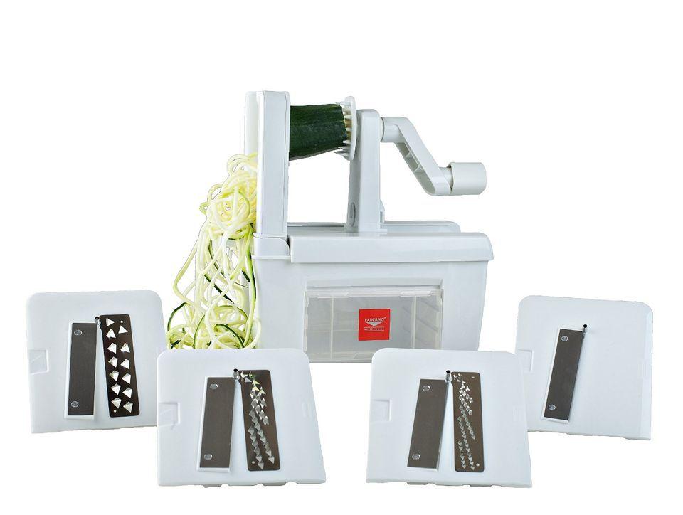 Paderno World Cuisine Spiralizer Pro, 4-Blade