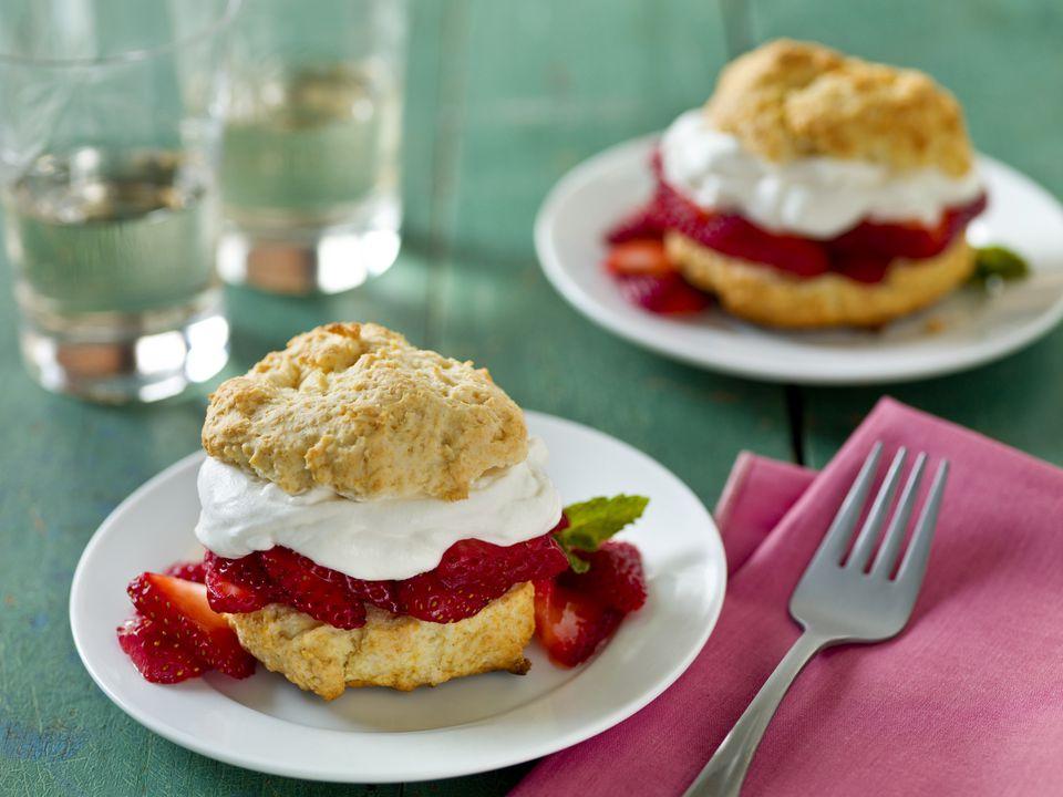 Delicious strawberry desserts