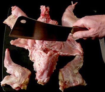 Cut up rabbit