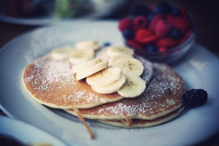 Dairy Free Vegan Banana Chocolate Chip Pancakes Recipe