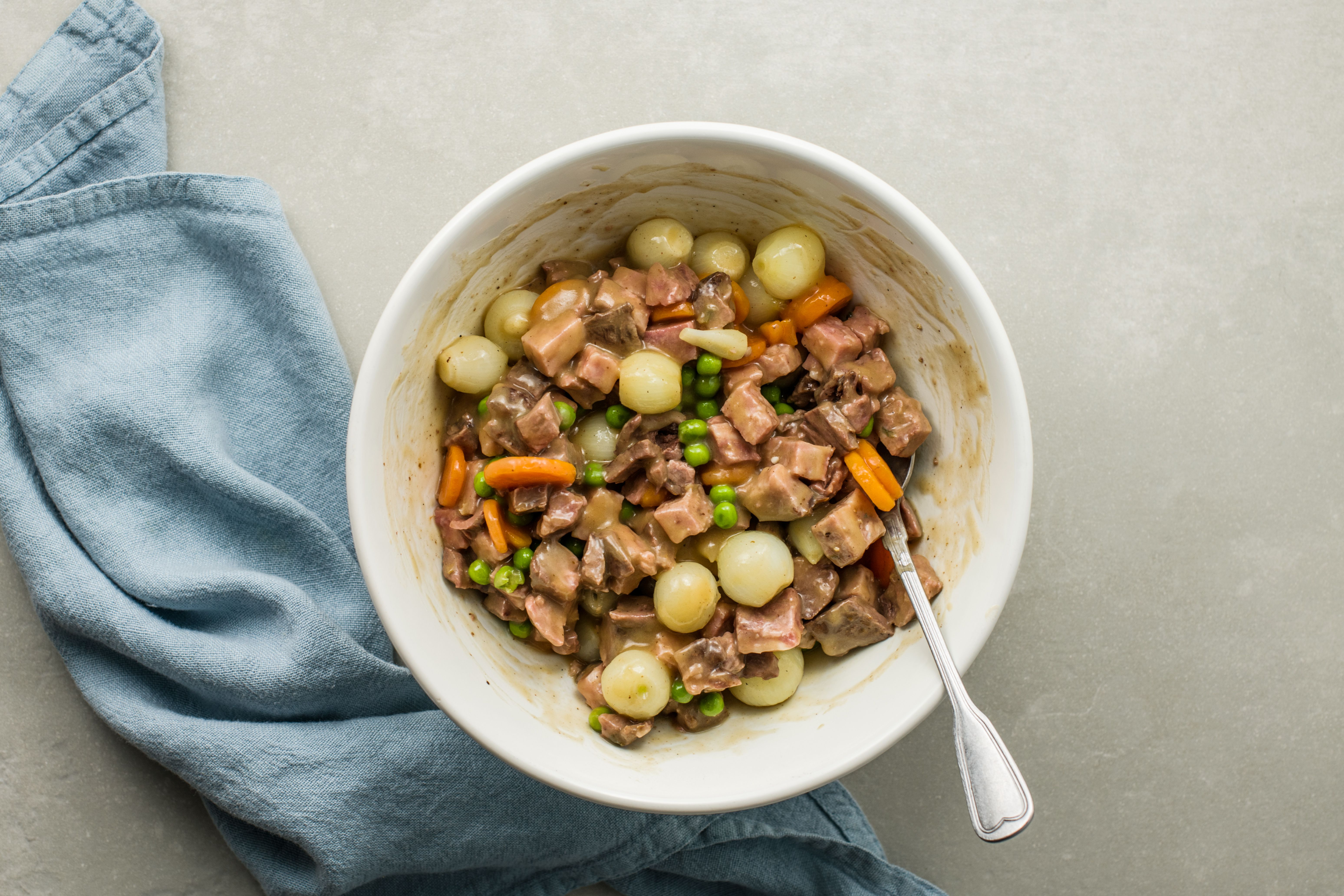 Mixed vegetables with leftover beef