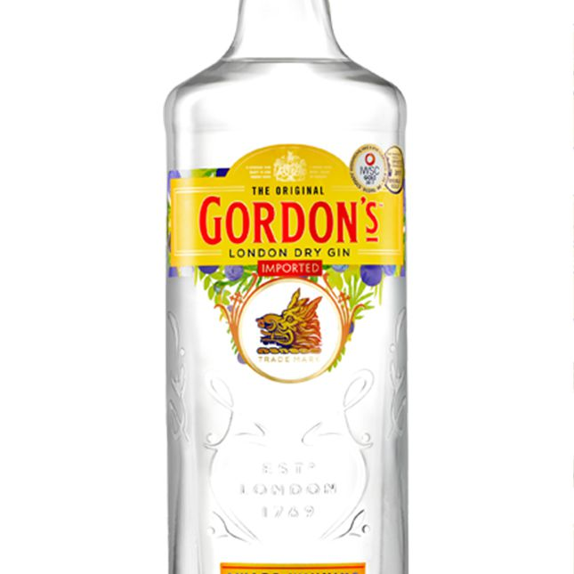 Bottle of Gordon's London Dry Gin