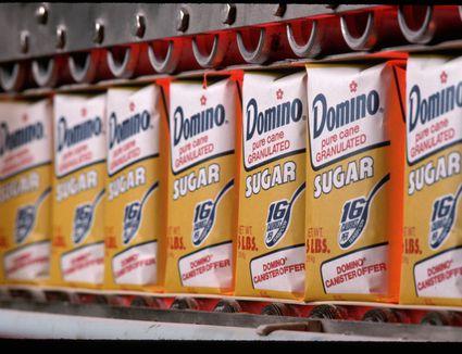 Sacks of granulated sugar