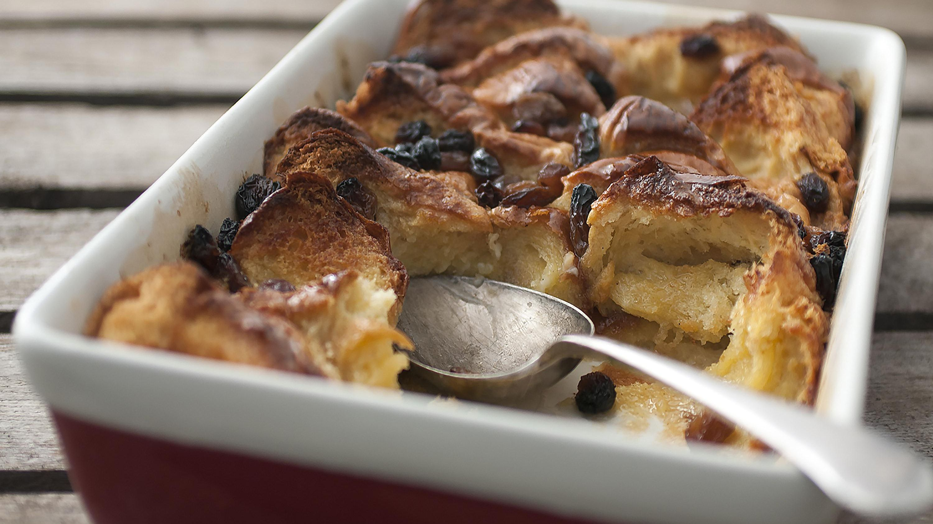 Bread And Butter Pudding With Brioche And White Chocolate
