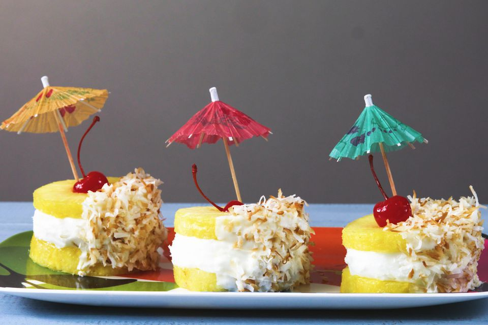Pina Colada Ice Cream Sandwiches
