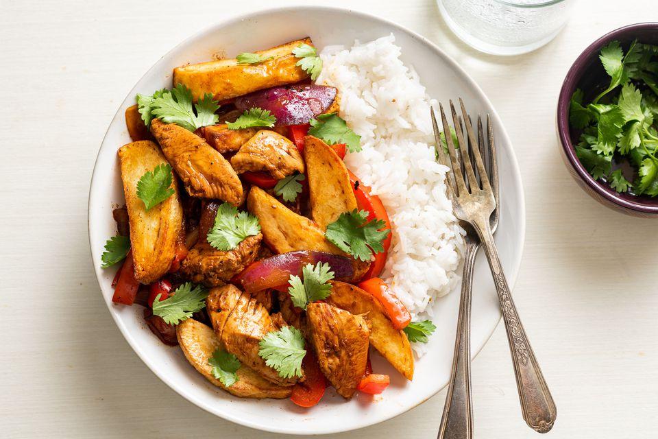 Pollo Saltado: Peruvian Chicken Stir-Fry