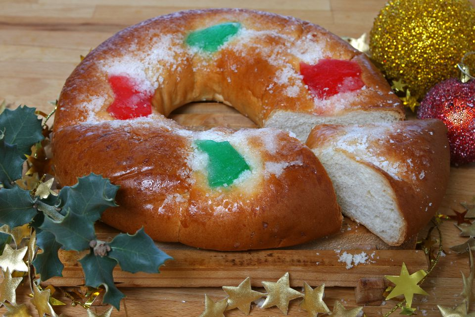 Roscon de Reyes or Twelfth Night Bread.
