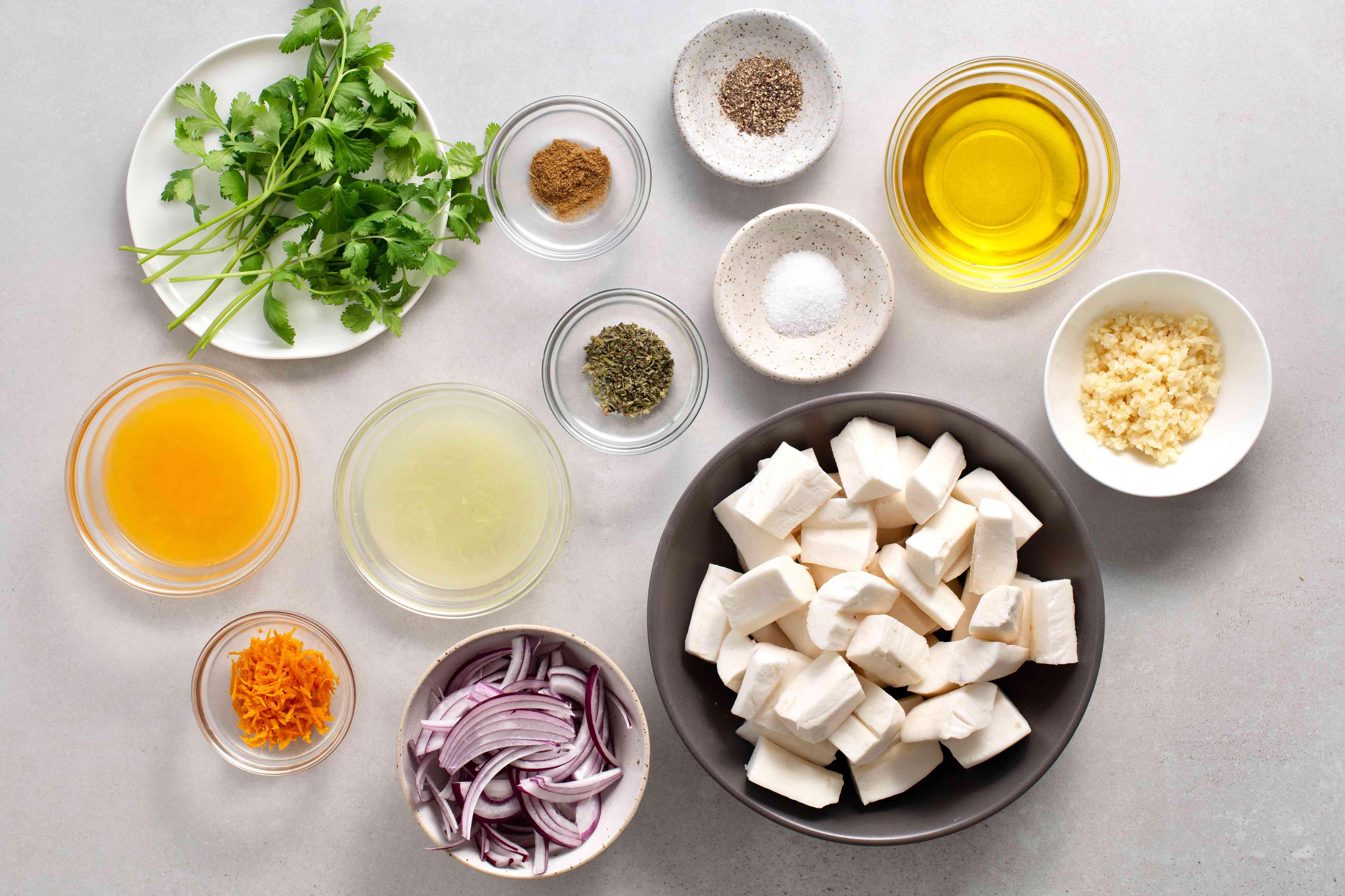 Yuca With Garlic Sauce (Yuca con Mojo) ingredients