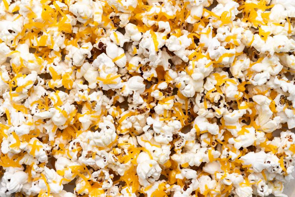 5-Minute Cheddar Cheese Popcorn (Using Real Cheddar)