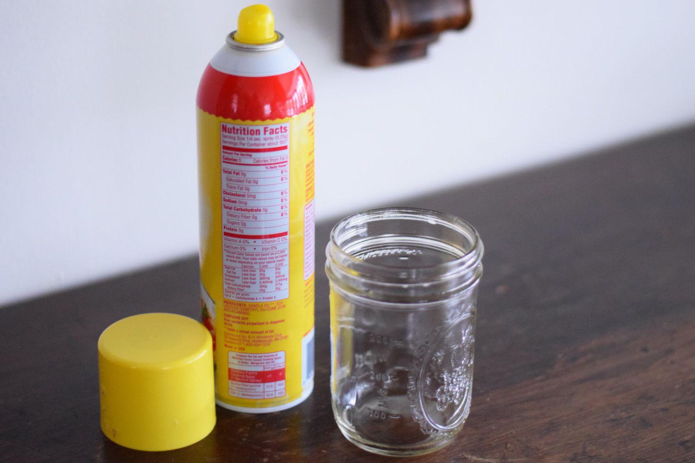 jar and spray oil