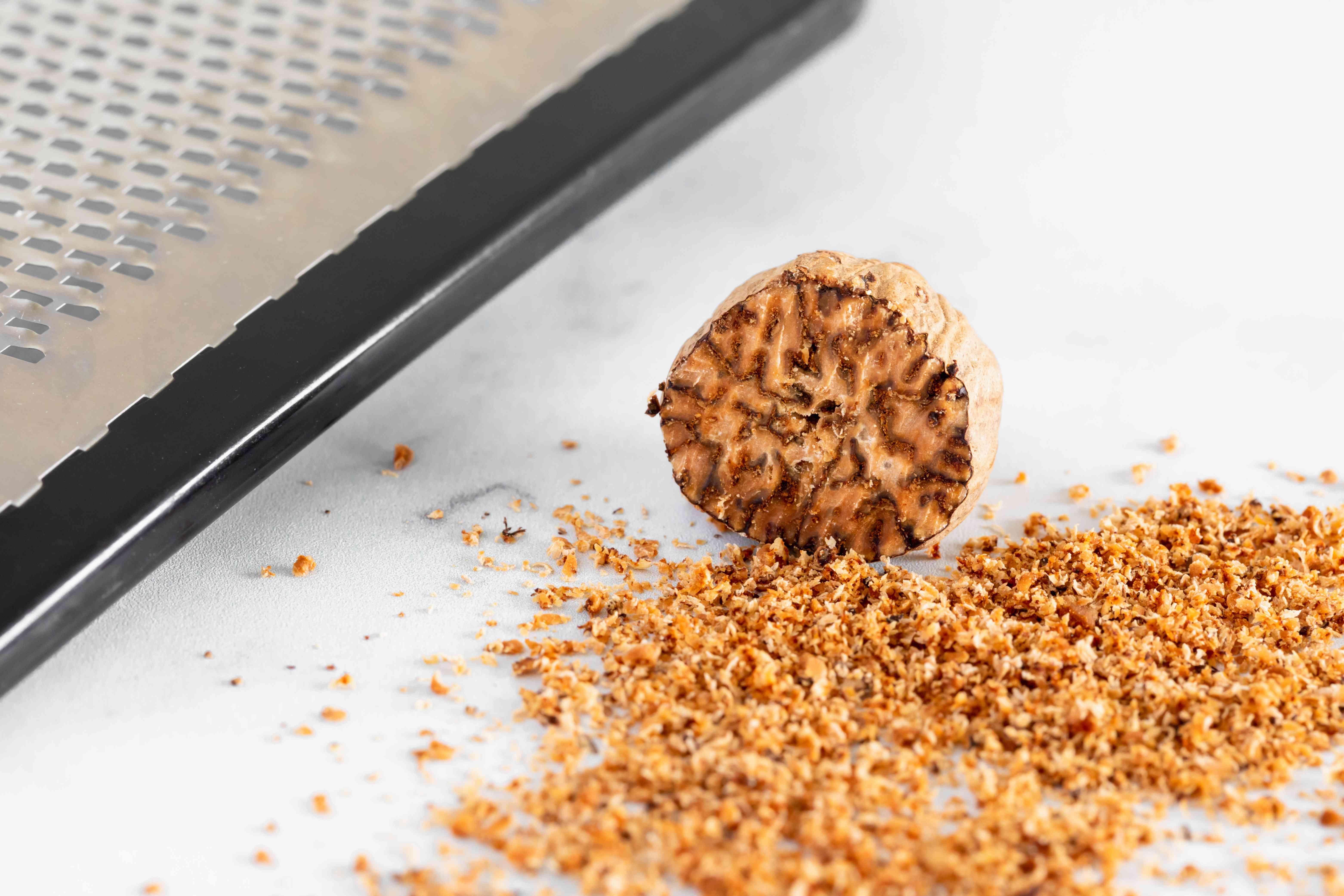 Chopped nutmeg