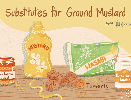 illustration showing substitutes for ground mustard