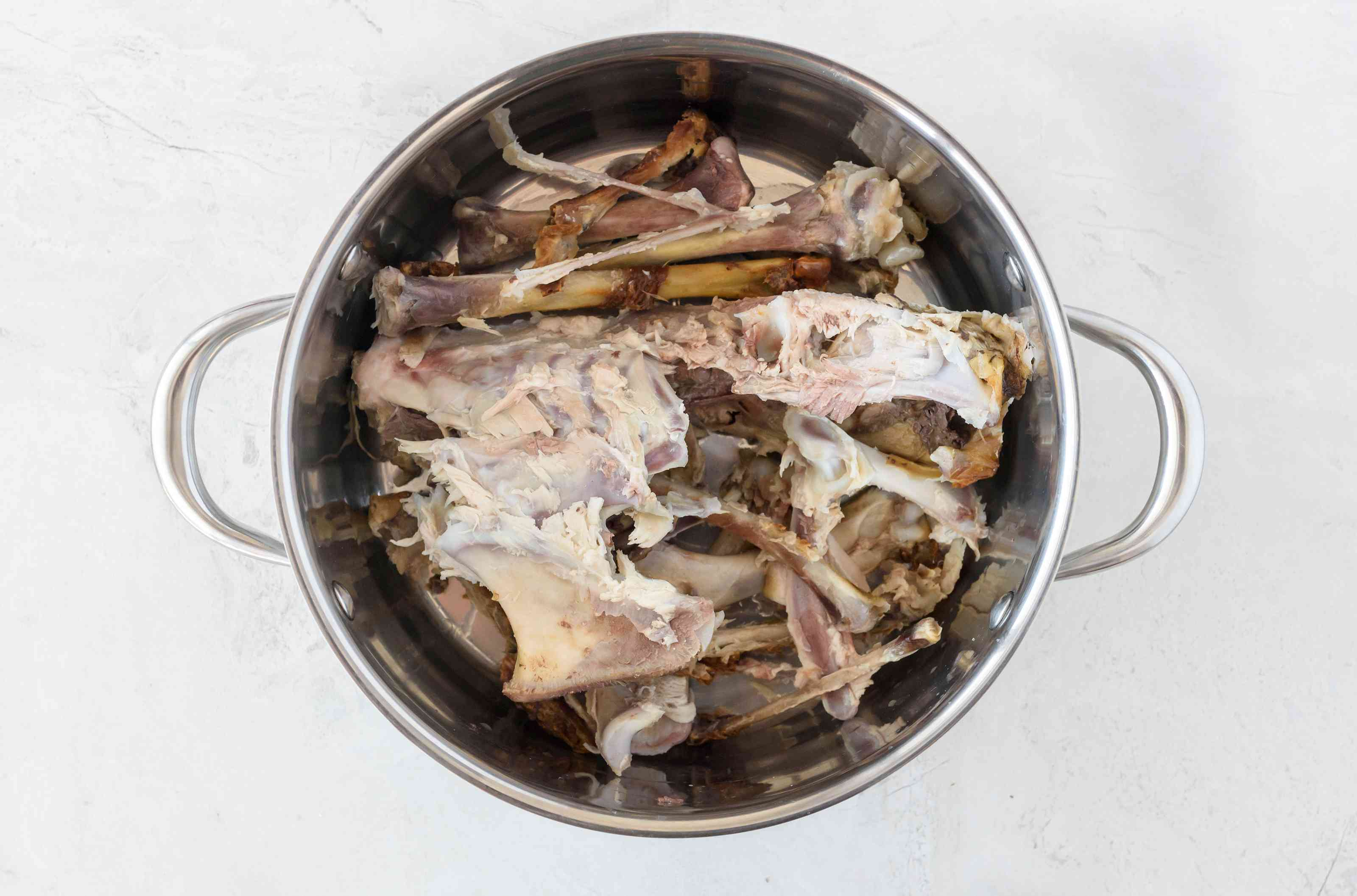 Rinse turkey bones