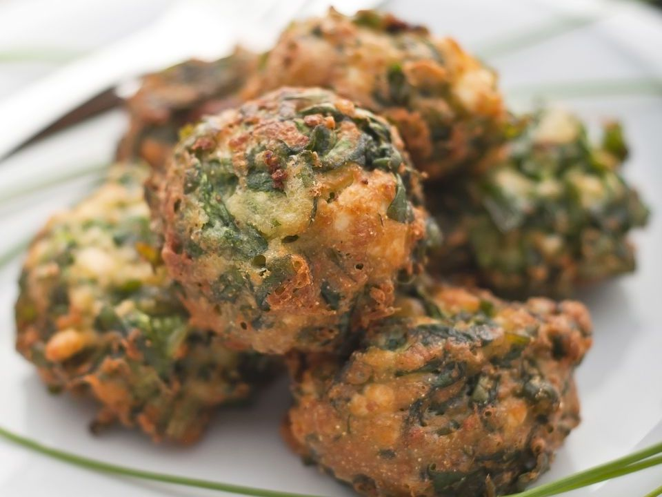 Simple Fried Spinach Balls