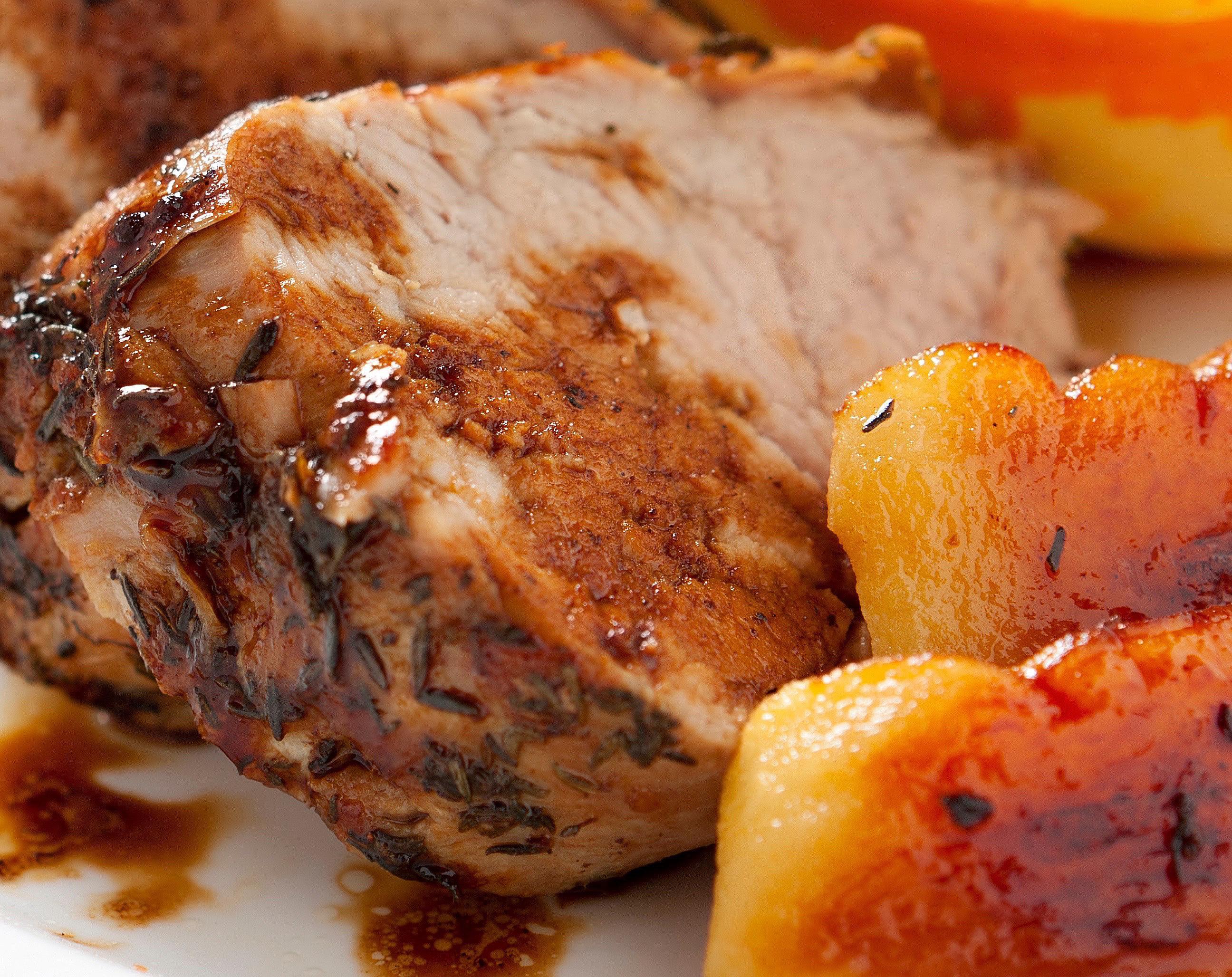 Apple-Glazed Crockpot Pork Roast