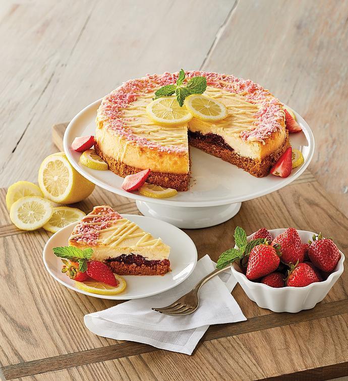 harry-and-david-lemon-strawberry-cheesecake