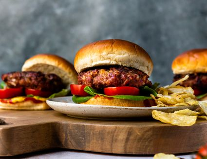Juicy Beef and Bacon Burgers