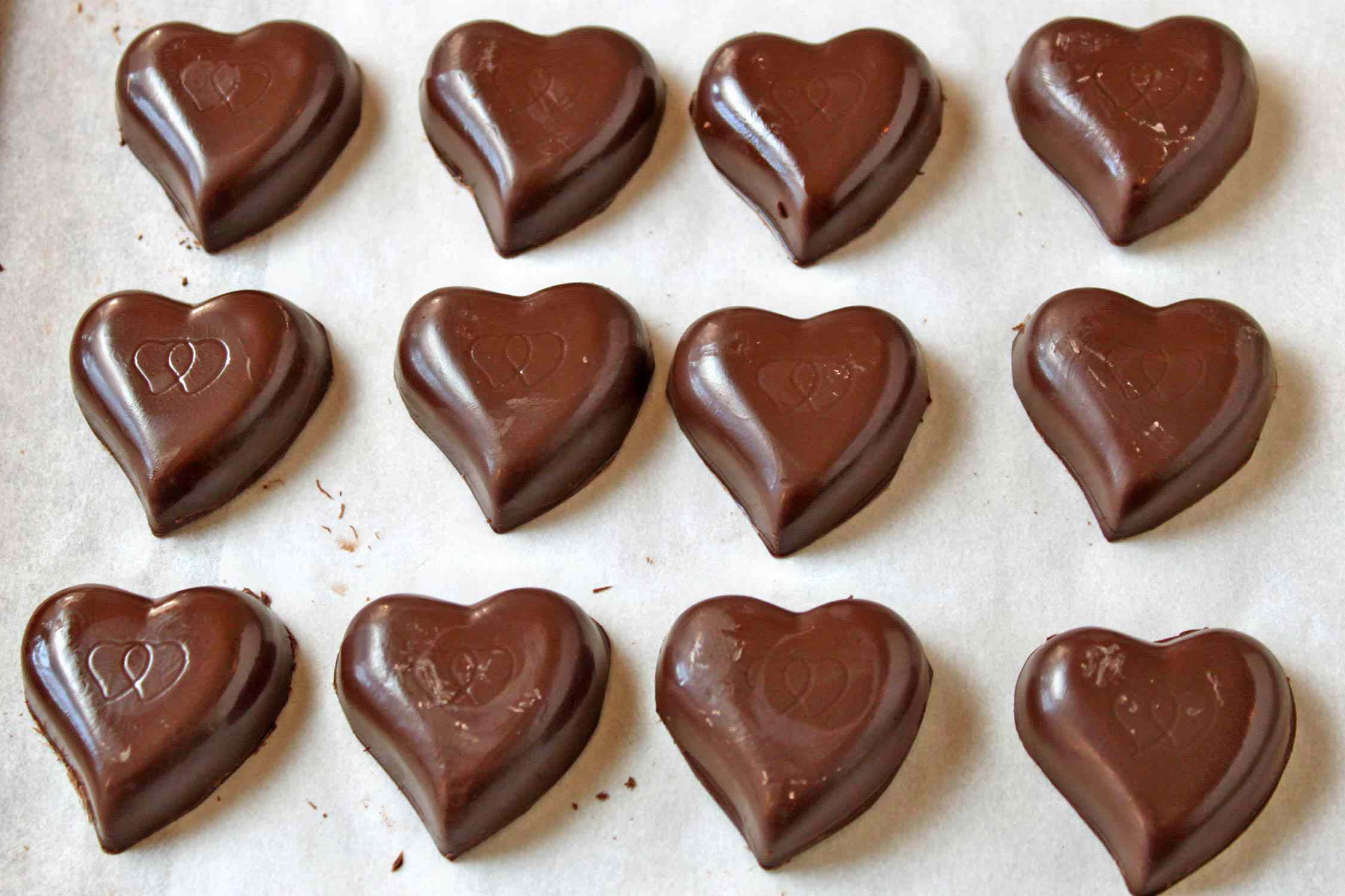 Molded Chocolate Candies finished