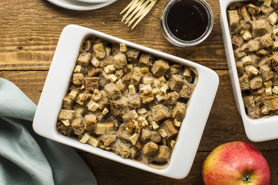 Dairy free apple bread pudding