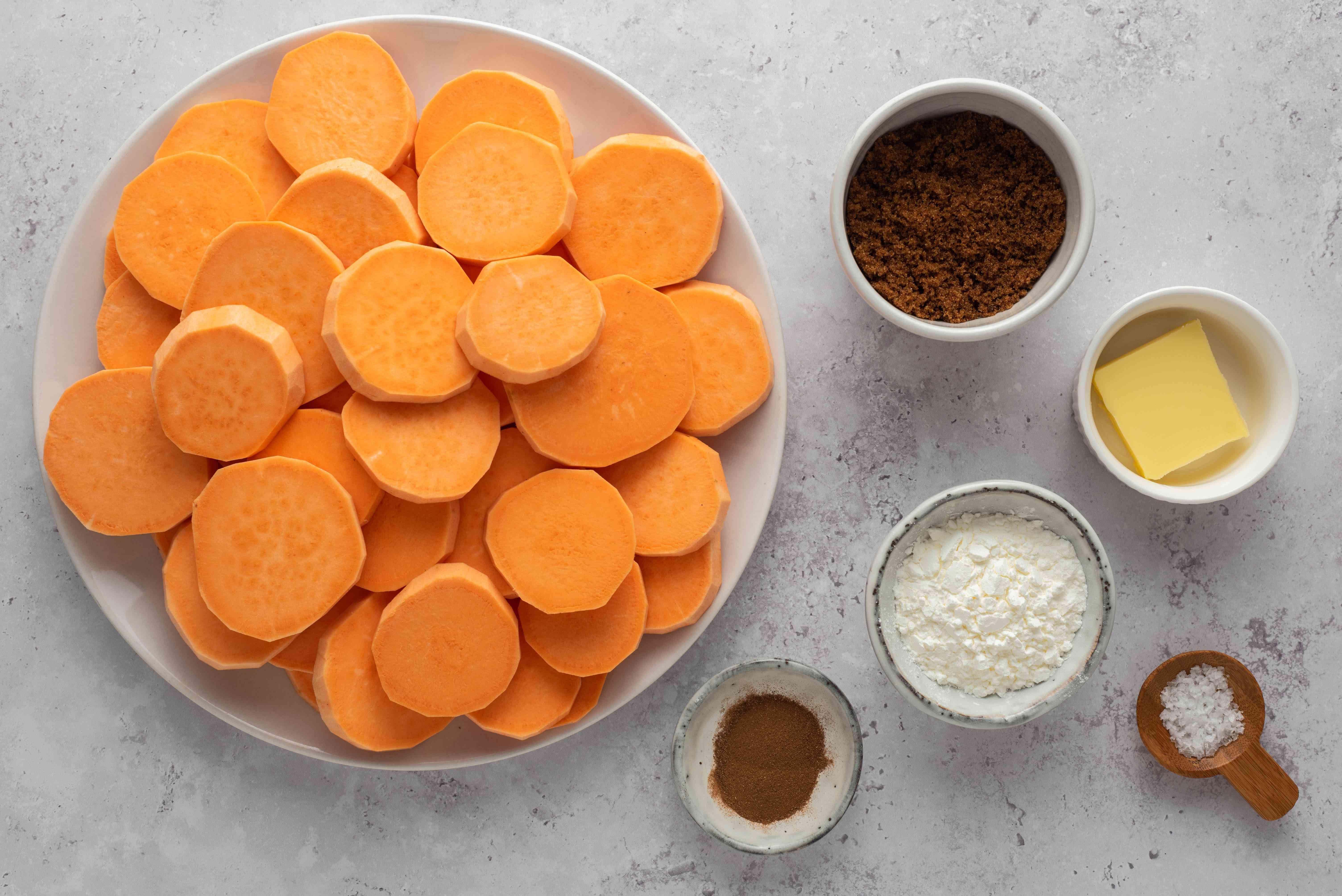 Crockpot Caramel Glazed Sweet Potatoes ingredients