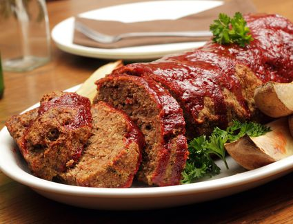 Meatloaf with barbecue glaze