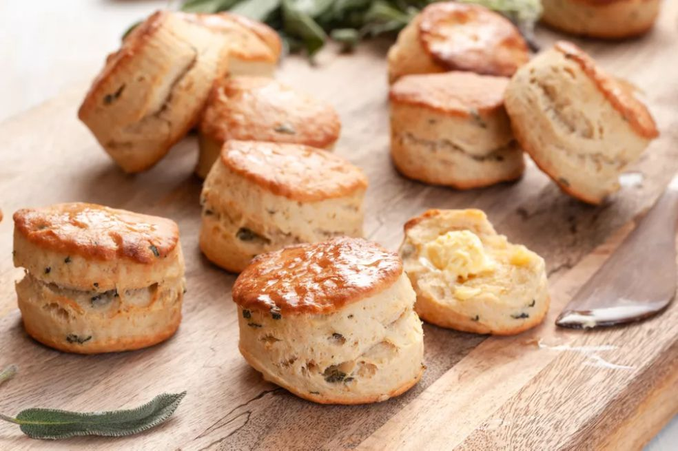 Brown Butter and Sage Biscuits