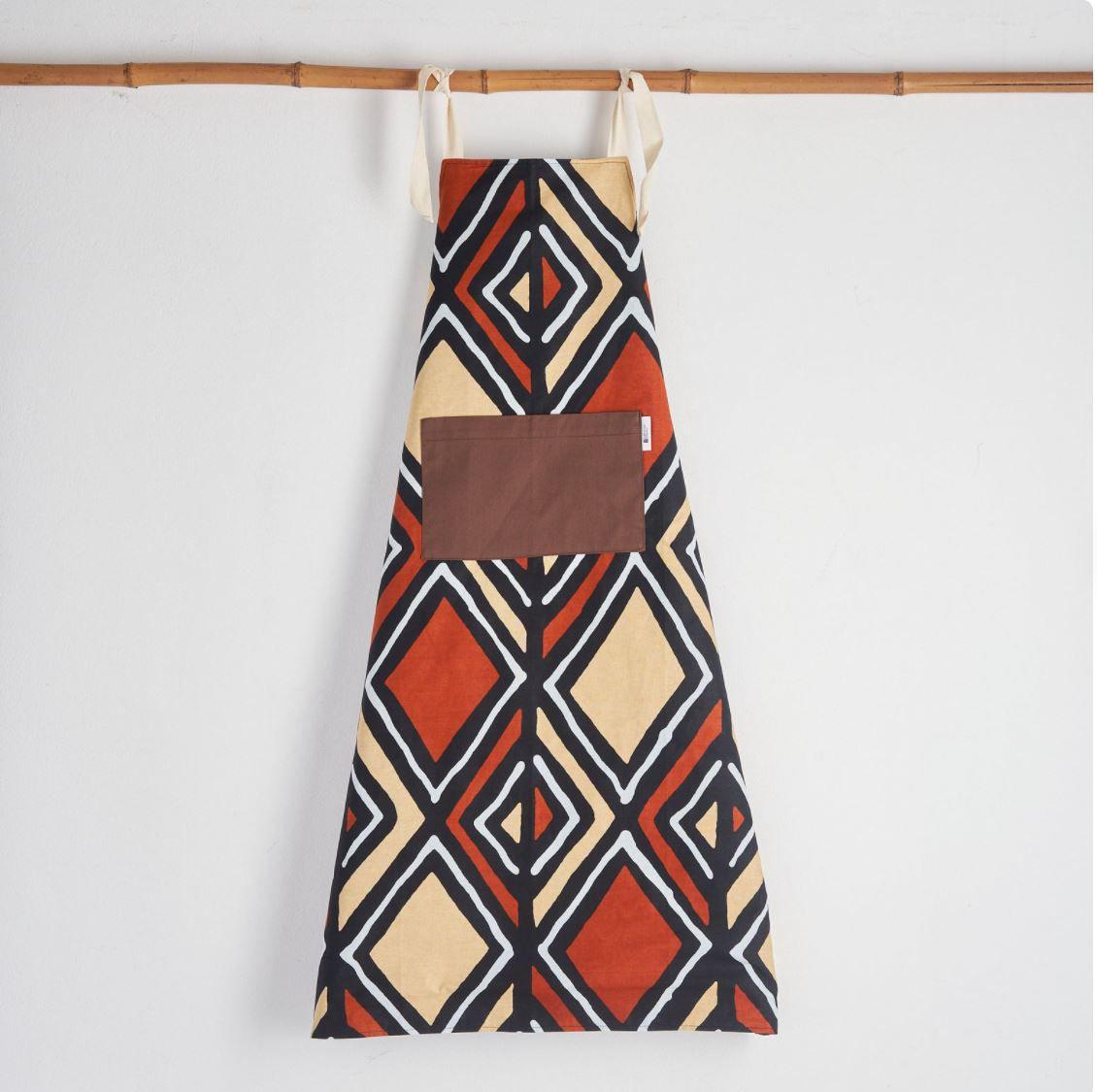 bespokebinny african print apron kitchen