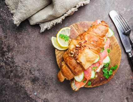 Salmon Salad on Croissant