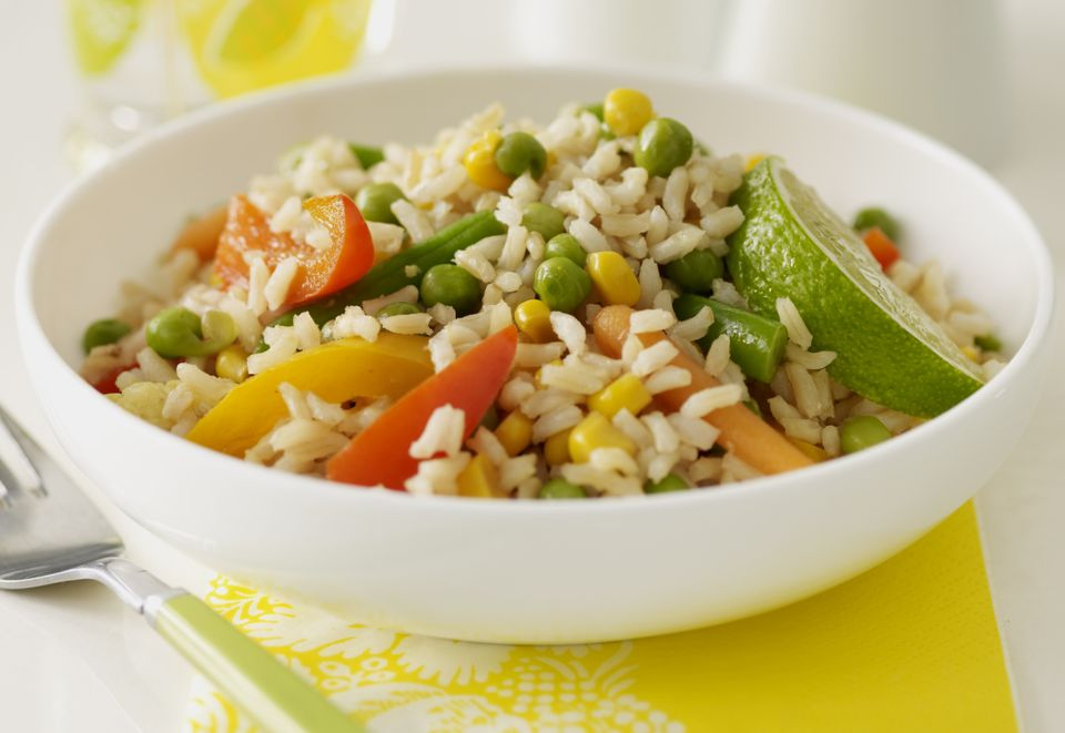 Receta de arroz frito con anacardo vegano