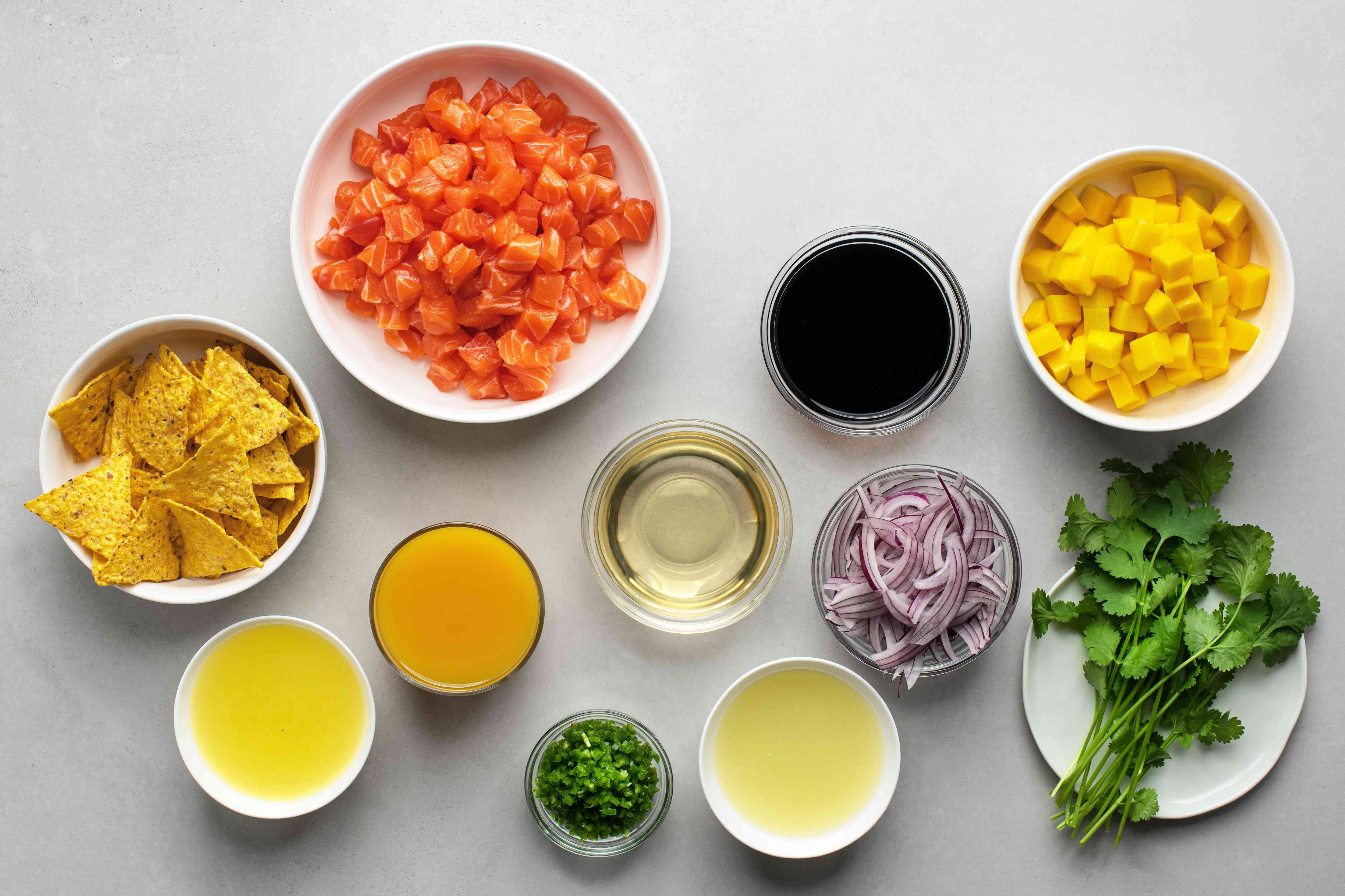 Salmon Ceviche with Mango ingredients