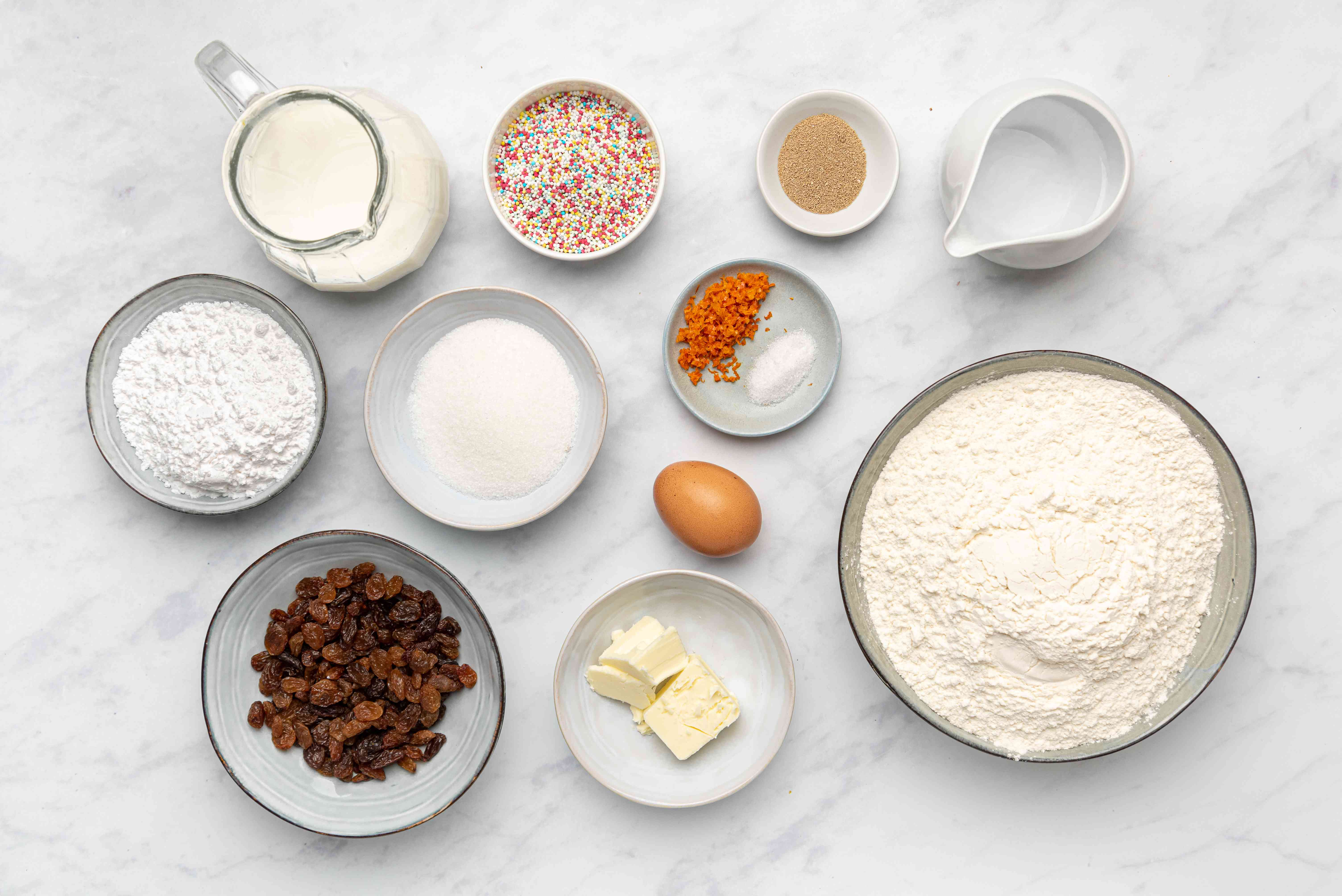 Ingredients for Easter bread