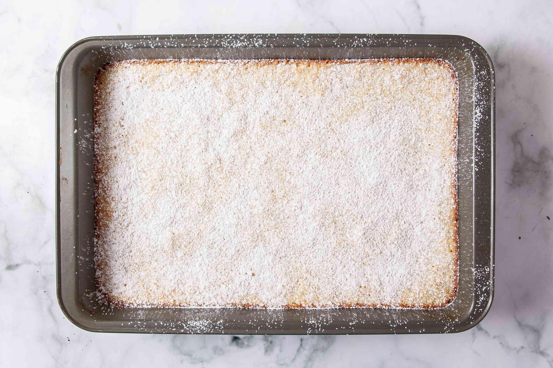 Meyer Lemon Bars in the pan