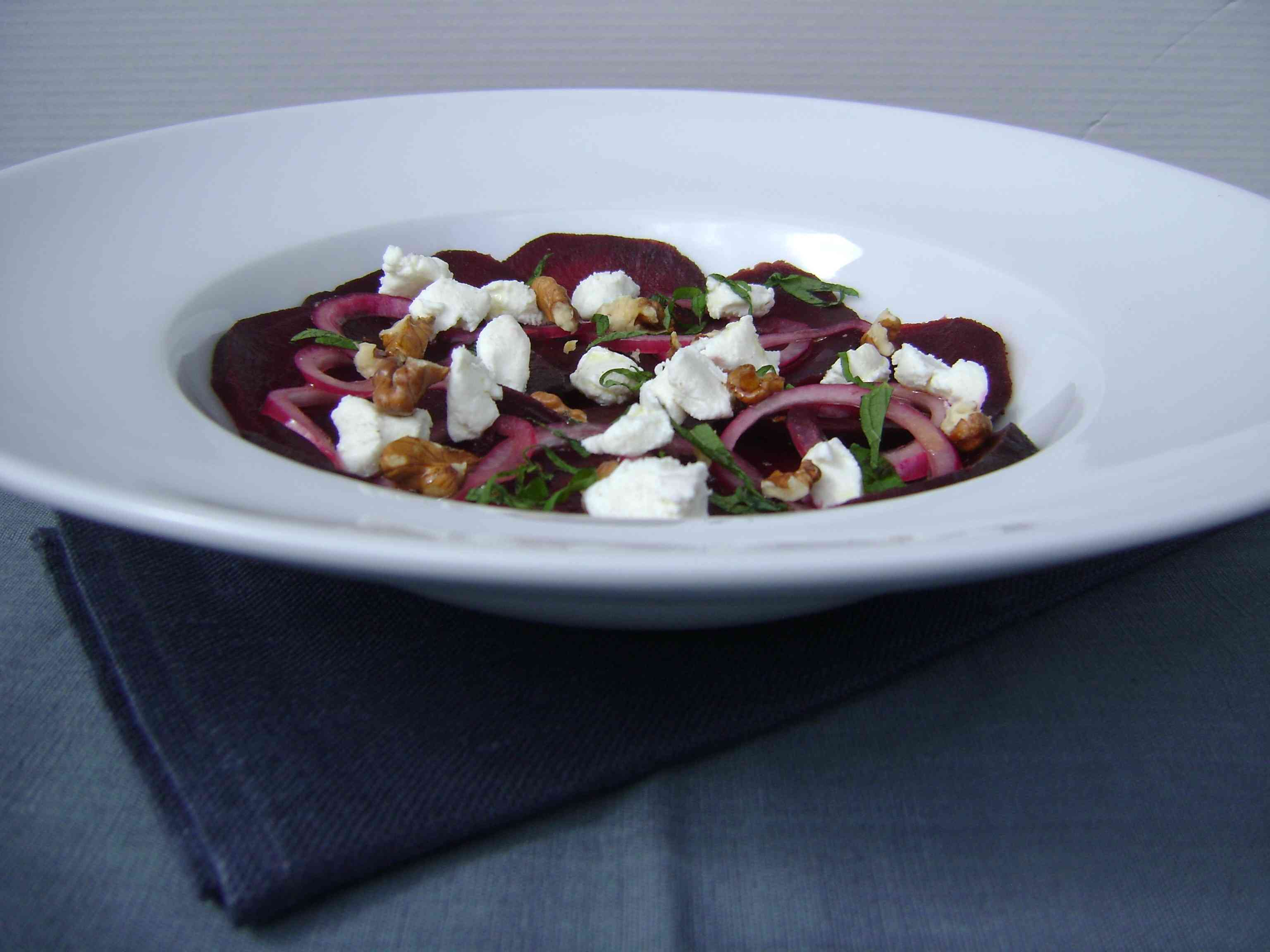 Beet Salad with Chèvre and Mint