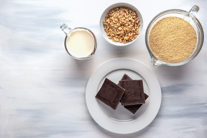 No-bake brownies ingredients