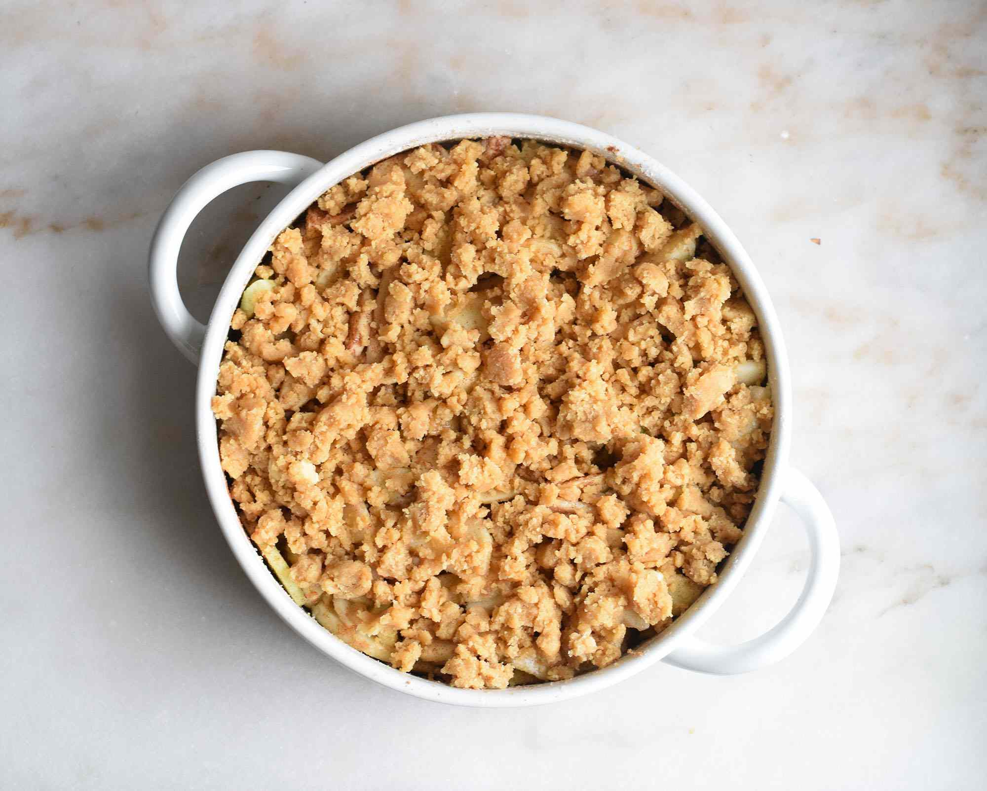 apples topped with streusel