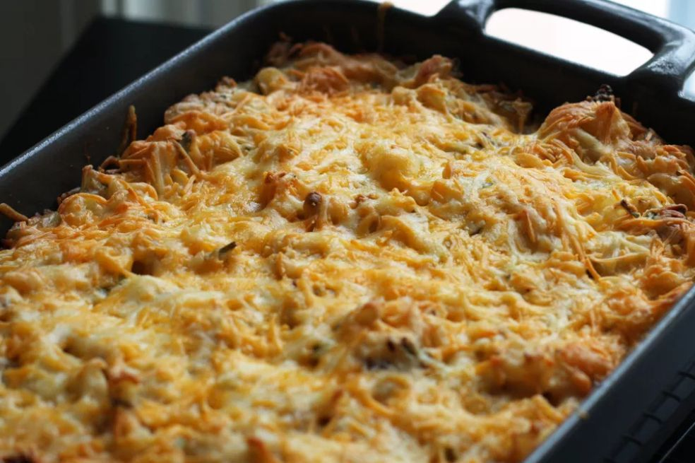 Ham, Hash Browns, and Spinach Casserole