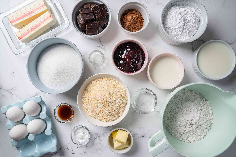 Lamington Cake ingredients