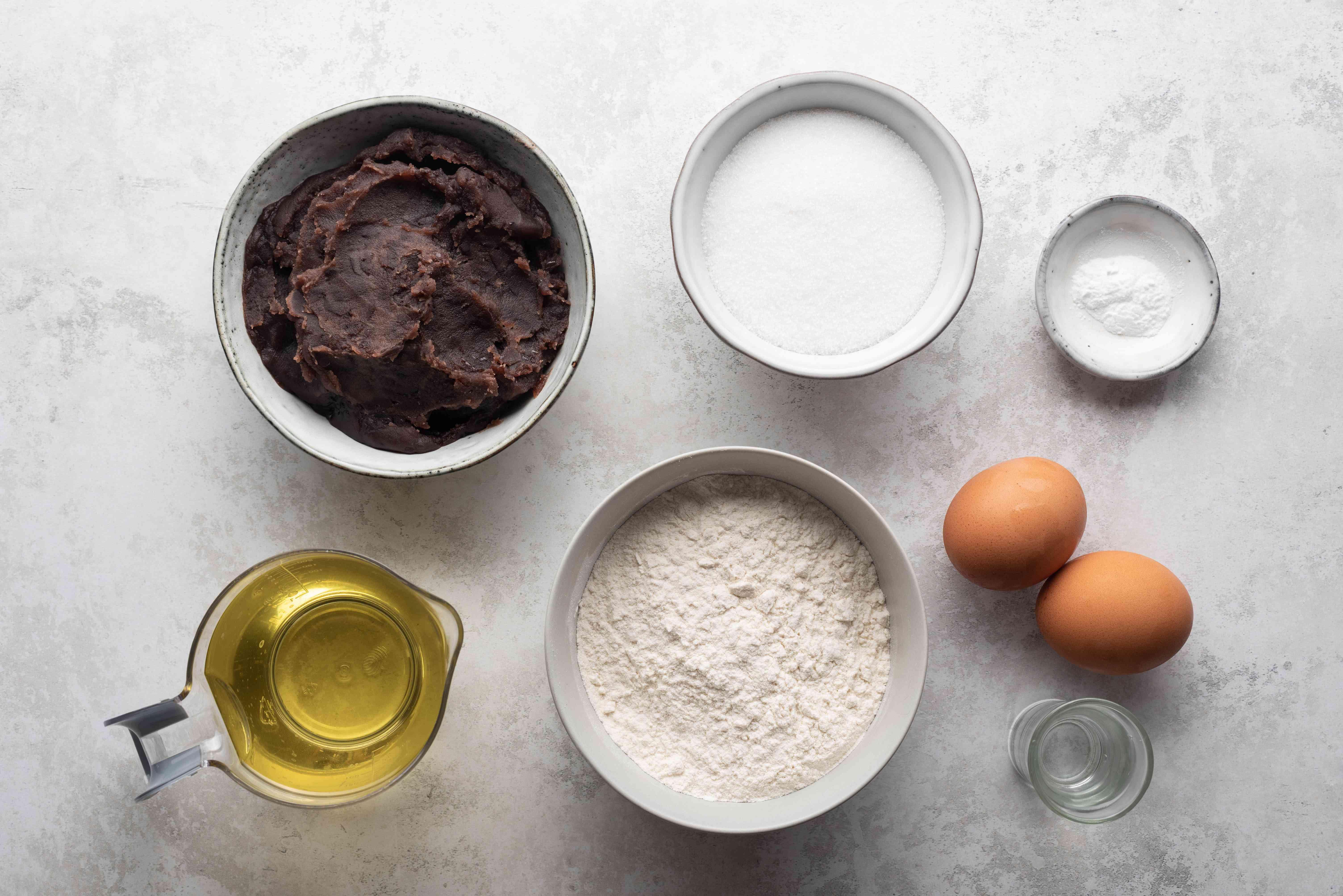 Dorayaki (Sweet-Filled Pancakes) Recipe ingredients