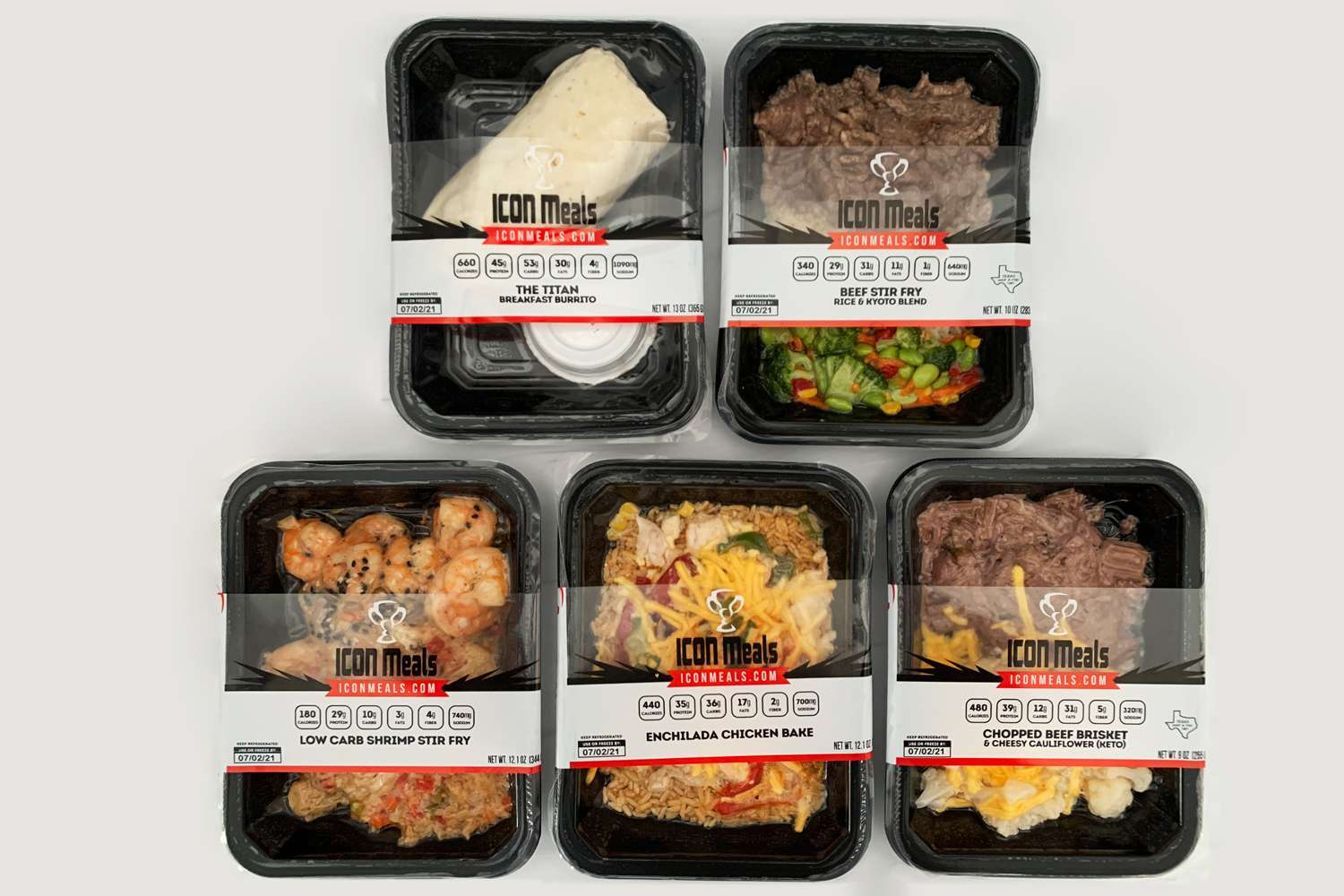 Icon Meals packaging