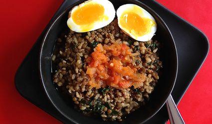 Lentil Quinoa Bowl With Kale